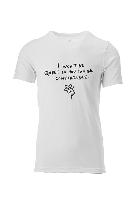 women apparel I won't be quiet t-shirt jubsies womens apparel co white